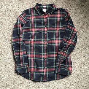 J.Crew perfect fit Stewart tartan plaid shirt M